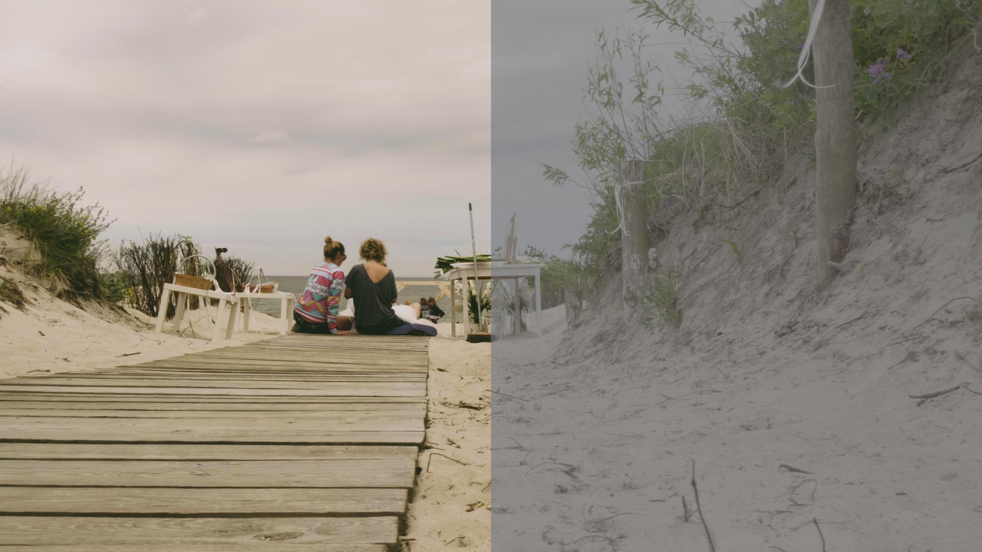 film ślubny koloryzacja filmu ślub na plaży