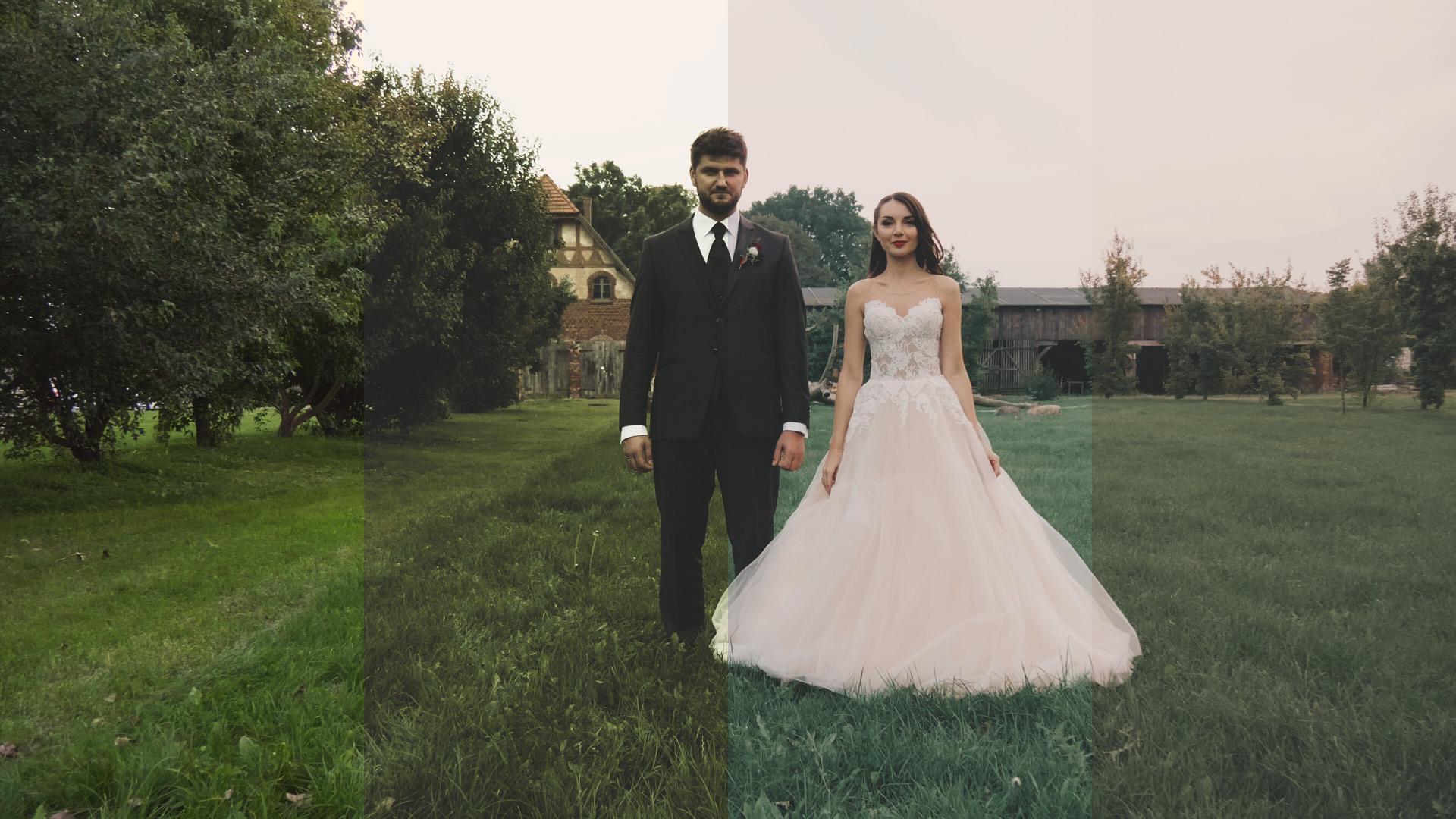 film ślubny różne rodzaje koloryzacji