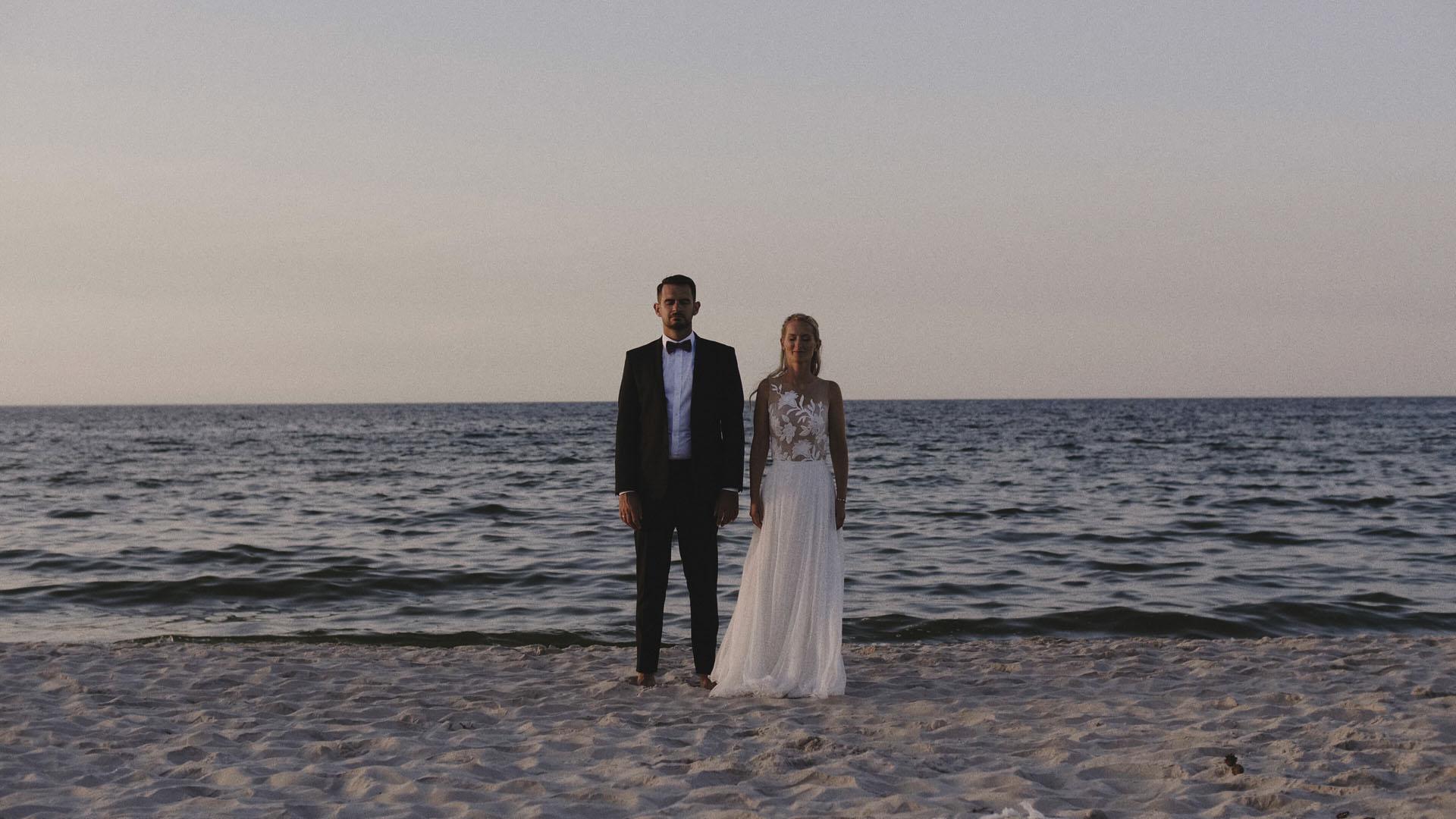 4 para młoda sesja plenerowa nad morzem ślub film