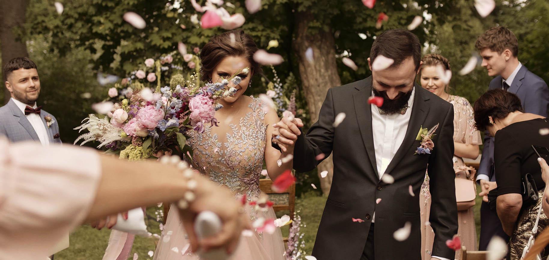 folwark wąsowo barn wedding best polish wedding videographer poland outdoor humanist ceremony