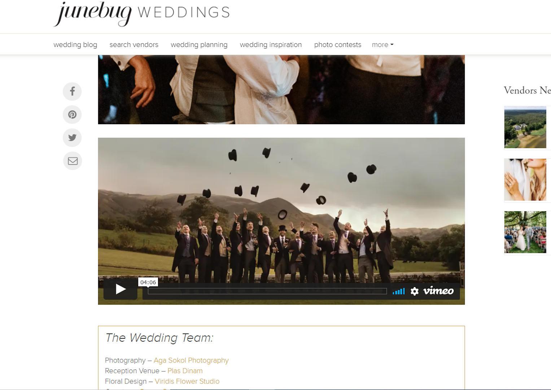 junebug wedding alpaka wedding videography najpopularniejszy blog ślubny na świecie